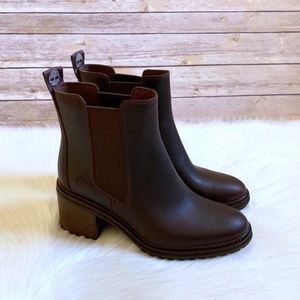 Timberland Dark Brown Sienna High Chelsea Boots